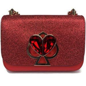 Kate Spade Nicola Chili Pepper Red Glitter Bag